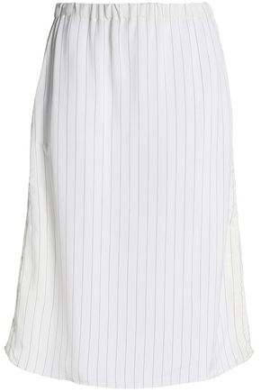 MARNI Pinstriped crepe skirt