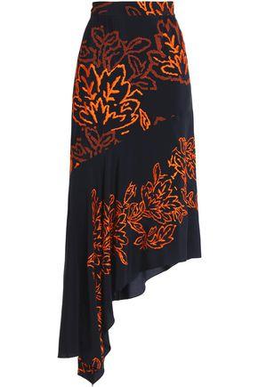 PETER PILOTTO Asymmetric embroidered silk skirt