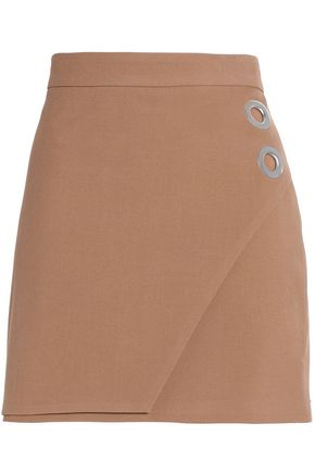 MICHELLE MASON Wrap-effect crepe mini skirt