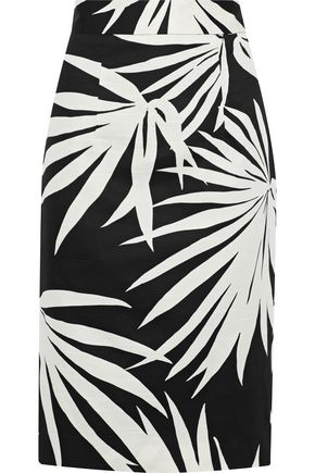 MILLY Printed cotton skirt