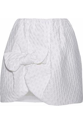 SIMONE ROCHA Bow-detailed jacquard skirt