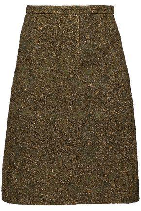 OSCAR DE LA RENTA Metallic cloqué skirt