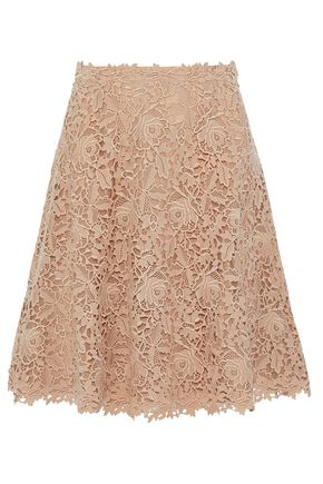 VALENTINO Cotton guipure lace mini skirt