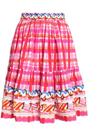 PETER PILOTTO Gathered printed cotton skirt