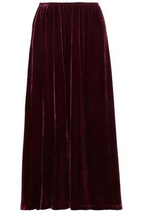 McQ Alexander McQueen Velvet maxi skirt