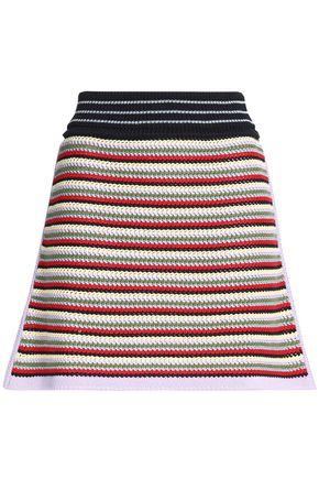 ALEXACHUNG Crocheted cotton-blend mini skirt