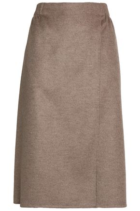 AGNONA Wool, cashmere and silk-blend skirt