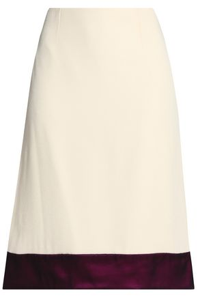 LANVIN Two-tone crepe skirt