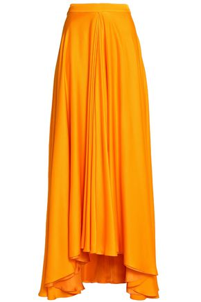 LANVIN Draped silk maxi skirt