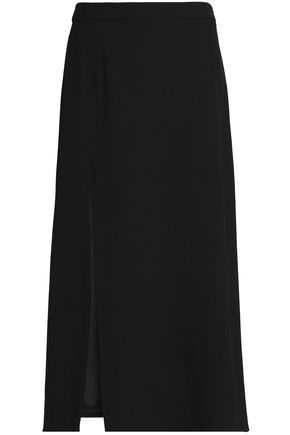 LANVIN Wool-crepe midi skirt