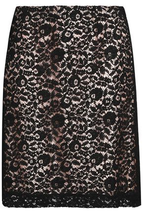 LANVIN Corded lace mini skirt