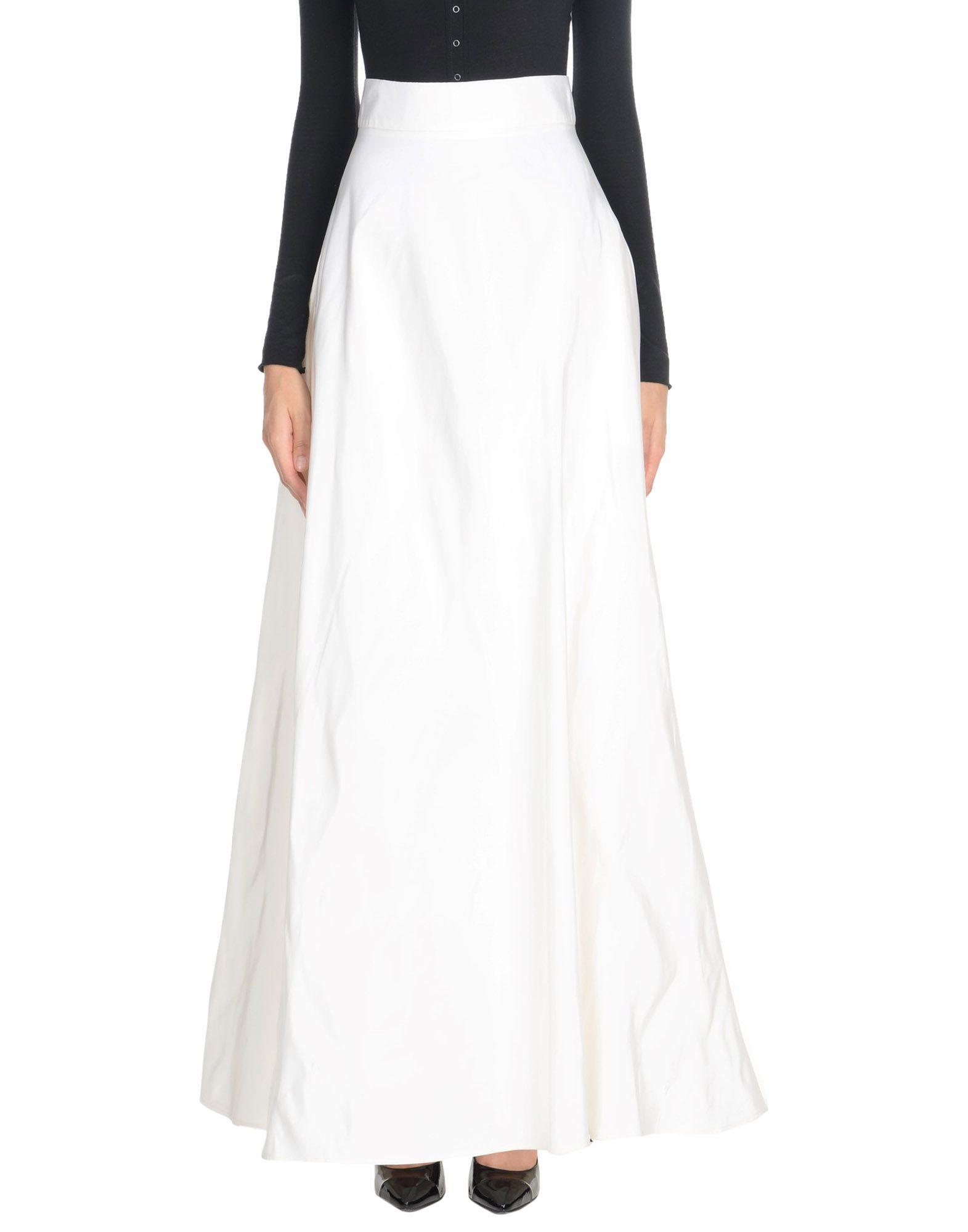 《送料無料》ROSIE ASSOULIN レディース ロングスカート アイボリー 4 シルク 100%