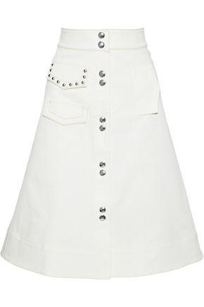 SONIA RYKIEL Flared studded denim skirt