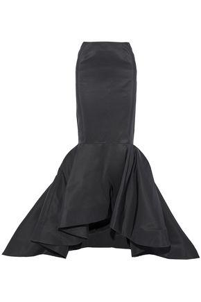 ELIZABETH KENNEDY Fluted satin-faille maxi skirt