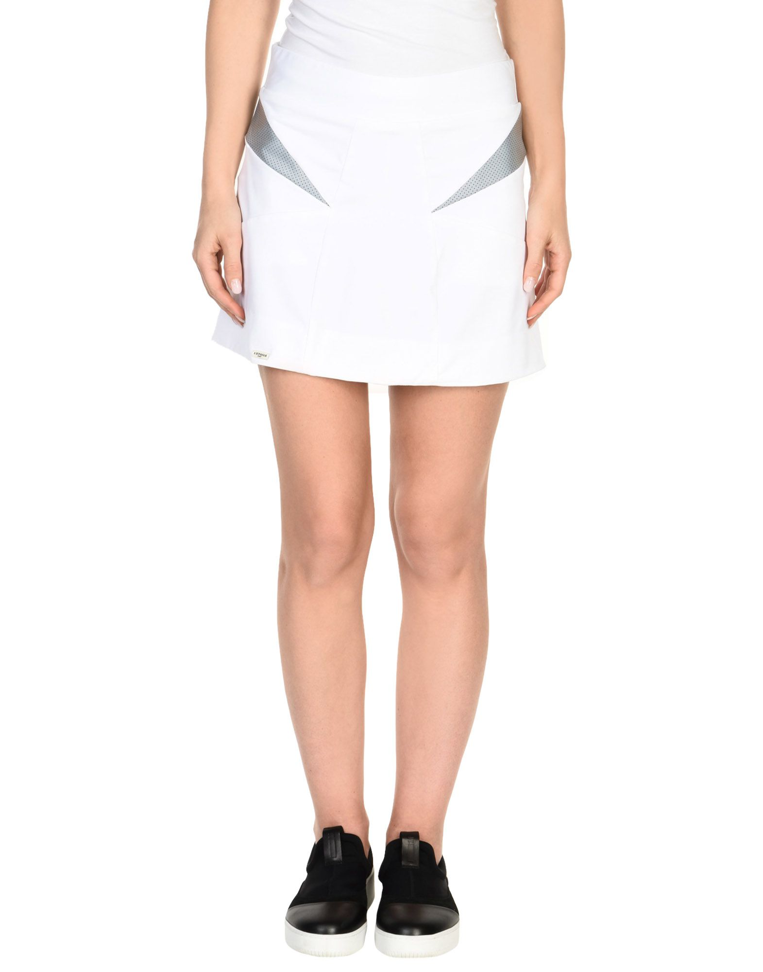 L'ETOILE SPORT Mini Skirt in White