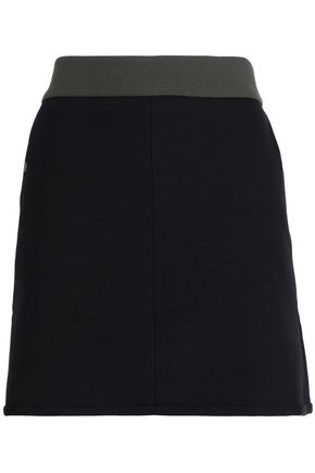 CEFINN Two-tone canvas mini skirt