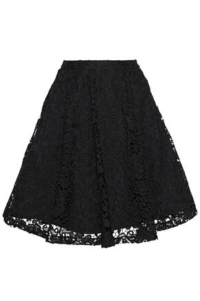 ALICE+OLIVIA Earla flared guipure lace skirt