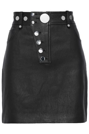 ALEXANDER WANG Studded leather mini skirt
