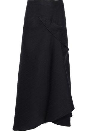 ROLAND MOURET Lathbury silk-satin cloqué midi skirt