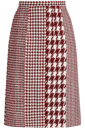 OSCAR DE LA RENTA Houndstooth jacquard skirt
