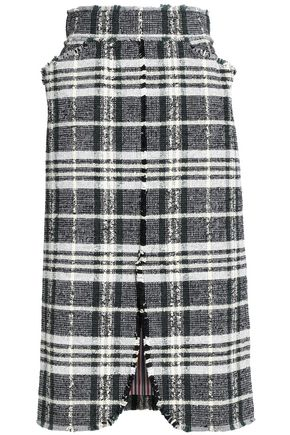THOM BROWNE Cotton-blend tweed skirt