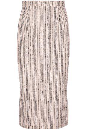 ROLAND MOURET Norley crepe-paneled bouclé pencil skirt