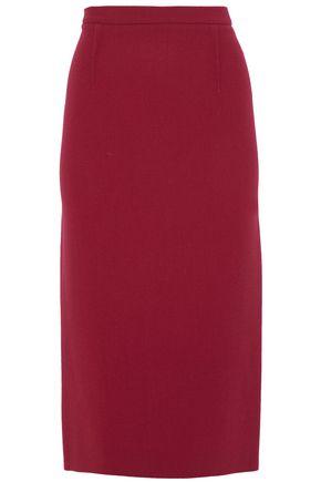 ROLAND MOURET Wool-crepe pencil skirt