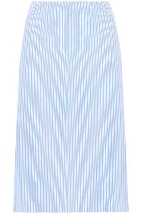 MARNI Striped cotton-poplin midi skirt