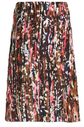 MARNI Printed silk skirt