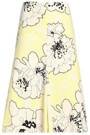 MARNI Floral-print cotton-poplin midi skirt