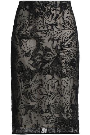 GOEN.J Devoré-velvet pencil skirt