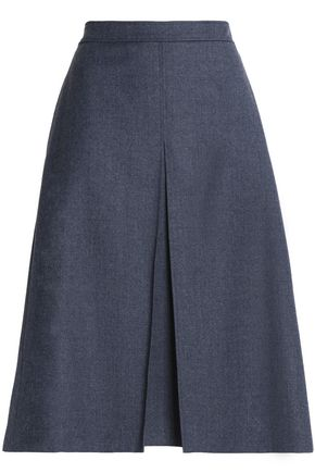 VANESSA SEWARD Pleated brushed wool skirt