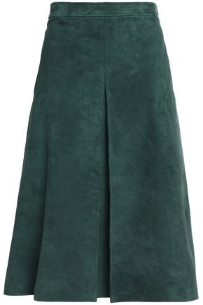 VANESSA SEWARD Pleated suede skirt