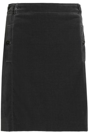 VANESSA SEWARD Cotton-blend velvet mini skirt