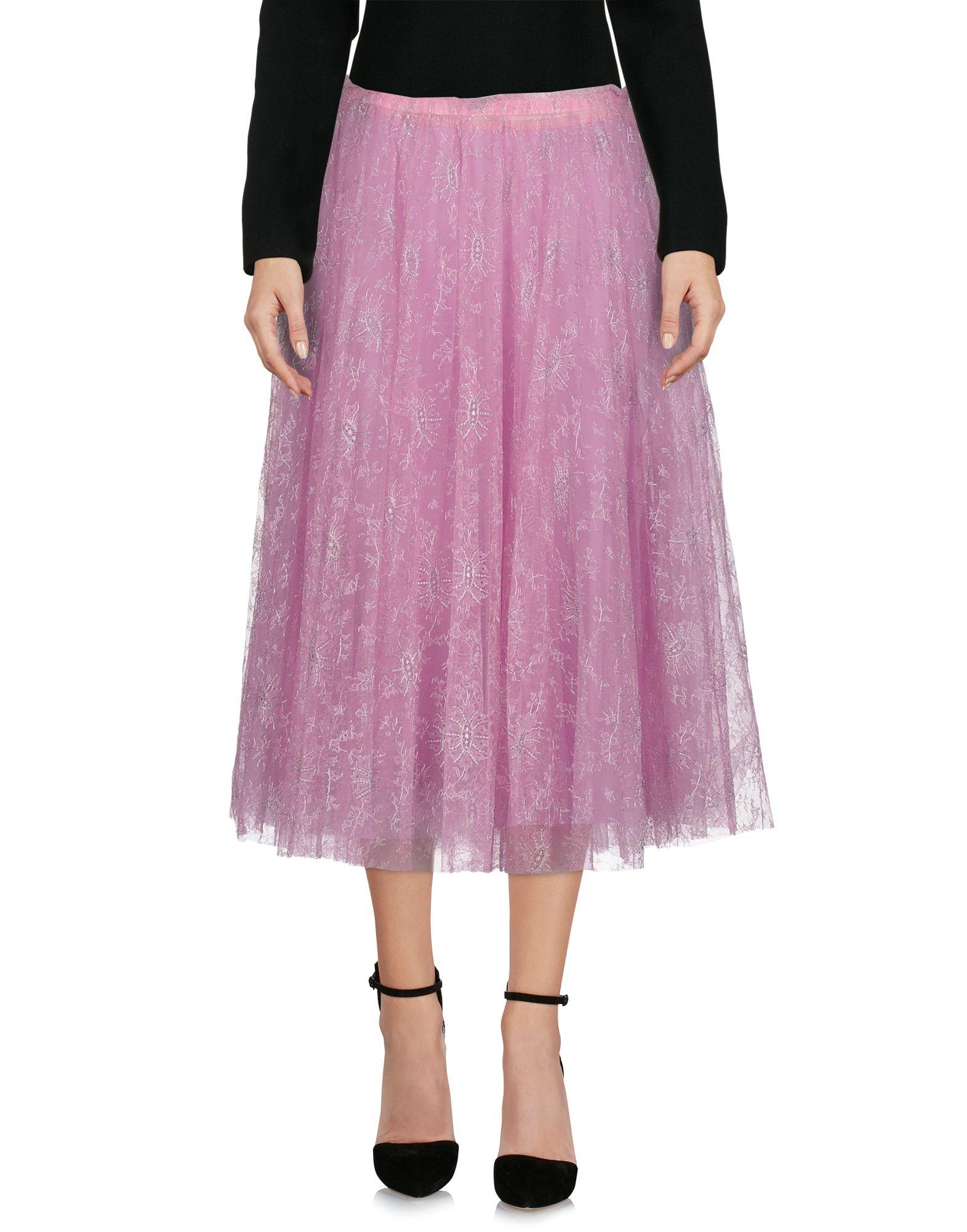 VALENTINO Юбка длиной 3/4 юбка valentino red юбки с принтом