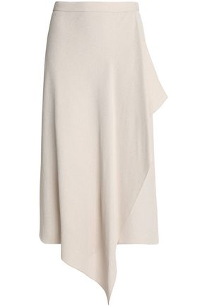 ROLAND MOURET Colesdale wrap-effect textured-crepe skirt