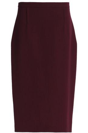 ROLAND MOURET Wool-crepe midi skirt