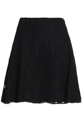 MICHAEL MICHAEL KORS Cotton-blend corded lace mini skirt