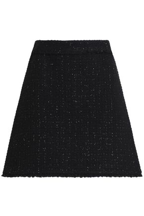 MICHAEL MICHAEL KORS Metallic wool-blend bouclé-tweed mini skirt