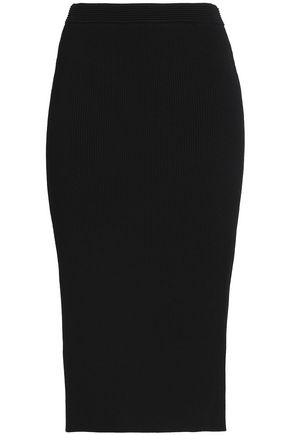 MICHAEL MICHAEL KORS Ribbed-knit midi skirt