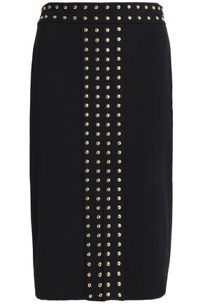 MICHAEL MICHAEL KORS Studded stretch-jersey skirt