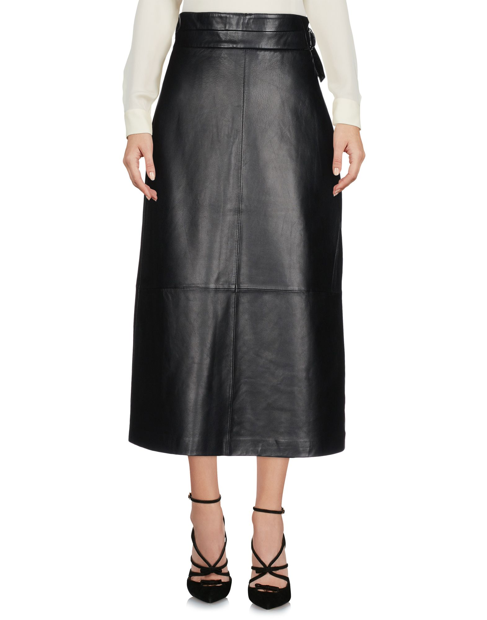 30c3b425756 French Connection 3/4 Length Skirt In Black | ModeSens