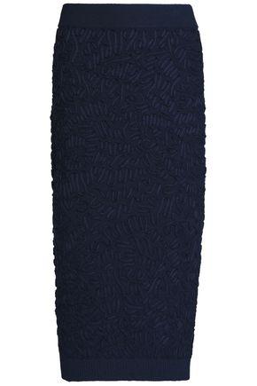 MICHAEL KORS COLLECTION Soutache grosgrain-appliquéd open-knit skirt