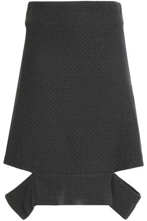 CHALAYAN Cutout cotton-jacquard skirt