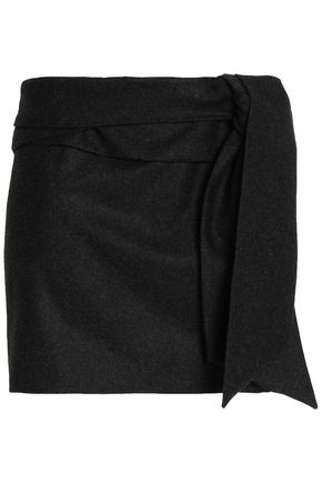 CHALAYAN Draped brushed-wool mini skirt