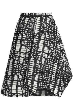 CHALAYAN Flared jacquard skirt