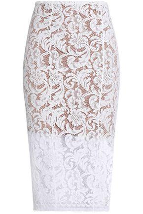 GALVAN  London Cotton-blend guipure lace skirt