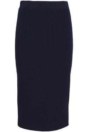 MICHAEL KORS COLLECTION Ribbed merino wool-blend midi skirt