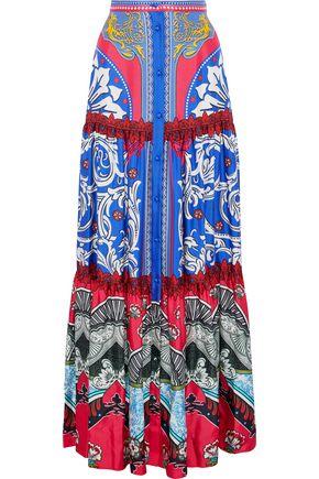 MARY KATRANTZOU Bridge printed silk-twill maxi skirt