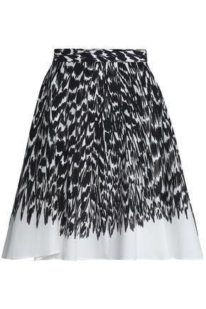 MILLY Circle printed cotton-blend poplin skirt